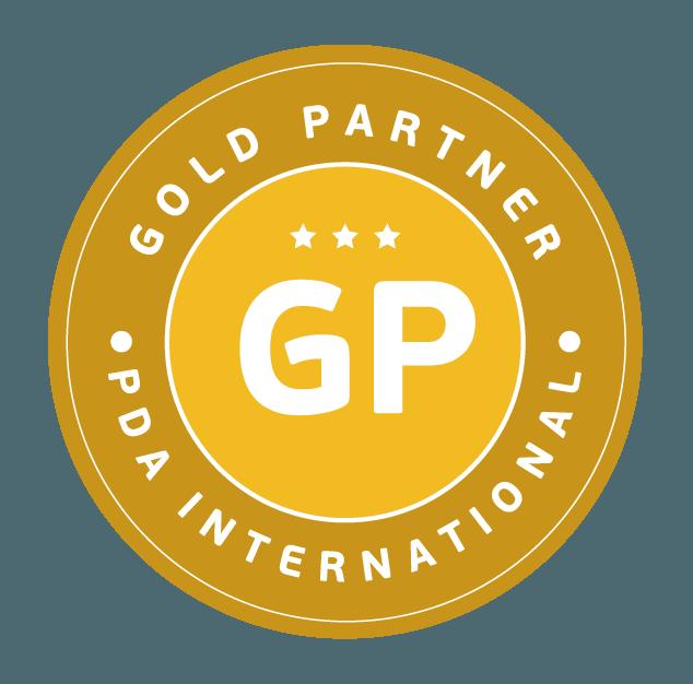 Símbolo de Gold Partner da PDA (Personnel Development Analysis)  International
